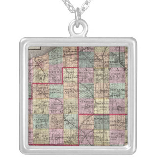Portage and Trumbull Counties Silver Plated Necklace