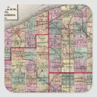 Portage and Trumbull Counties Square Sticker