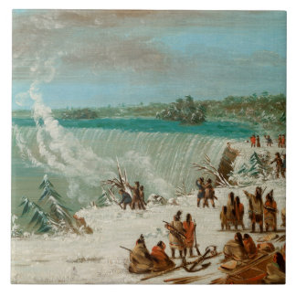Portage Around the Falls of Niagara at Table Rock Ceramic Tile