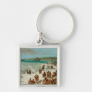 Portage Around the Falls of Niagara at Table Rock Keychain