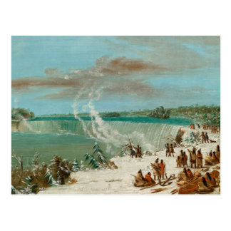 Portage Around the Falls of Niagara at Table Rock Postcard