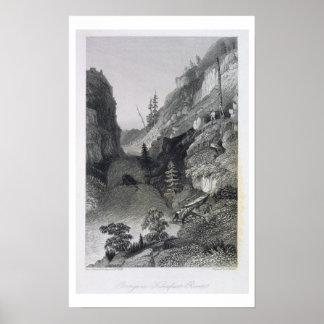 Portage en el río de la escarcha, el 19 de agosto  poster