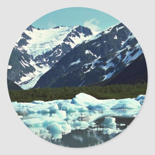 Portage Glacier, north of Port Seward, Alaska Classic Round Sticker
