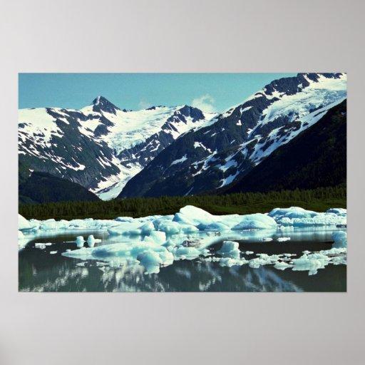 Portage Glacier, north of Port Seward, Alaska Poster