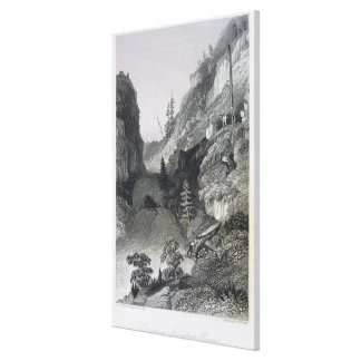 Portage in Hoarfrost River, August 19th, 1833, fro Canvas Print