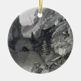 Portage in Hoarfrost River, August 19th, 1833, fro Ceramic Ornament