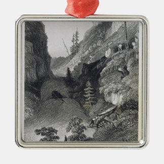 Portage in Hoarfrost River, August 19th, 1833, fro Metal Ornament