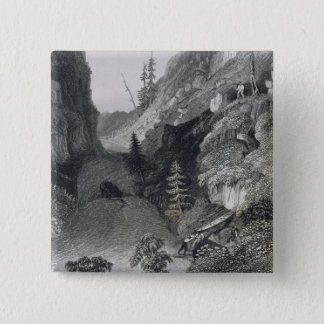 Portage in Hoarfrost River, August 19th, 1833, fro Pinback Button