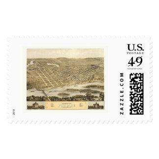 Portage, WI Panoramic Map - 1868 Postage