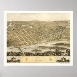 Portage, WI Panoramic Map - 1868 Poster