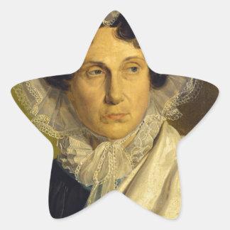 Portait de la madre del artista de Alfred Rethel Pegatina En Forma De Estrella