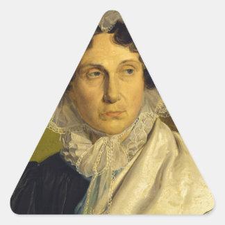 Portait de la madre del artista de Alfred Rethel Pegatina Triangular