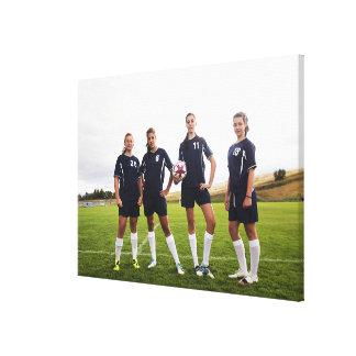 portait del grupo de los jugadores de fútbol adole lienzo envuelto para galerias