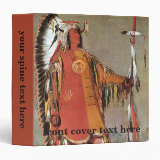 Portait of Indian Chief Mato-Tope by George Catlin 3 Ring Binder