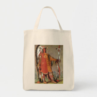 Portait of Indian Chief Mato-Tope by George Catlin Canvas Bags