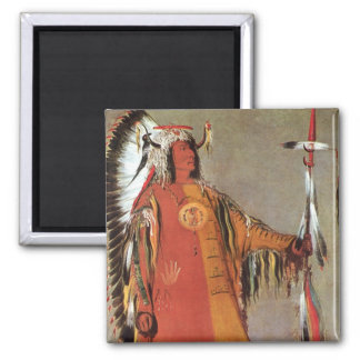 Portait of Indian Chief Mato-Tope by George Catlin Refrigerator Magnet