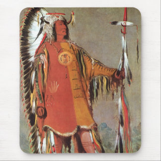 Portait of Indian Chief Mato-Tope by George Catlin Mouse Pad