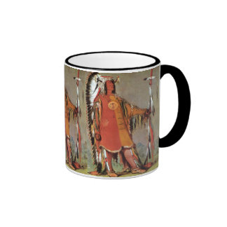 Portait of Indian Chief Mato-Tope by George Catlin Coffee Mug