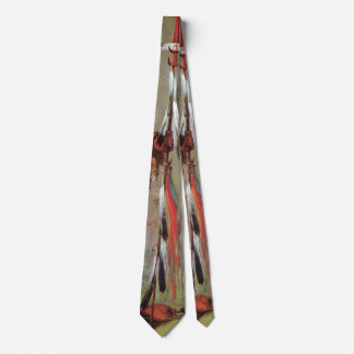Portait of Indian Chief Mato-Tope by George Catlin Neck Tie