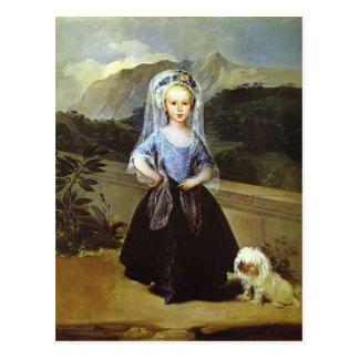 Portait of Maria Teresa Borbón by Francisco Goya Postcard