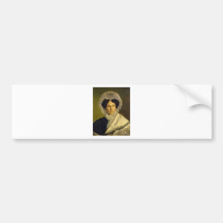 Portait of the Artist's Mother by Alfred Rethel Bumper Sticker
