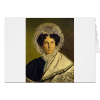Portait of the Artist's Mother by Alfred Rethel Card