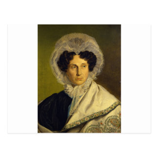 Portait of the Artist's Mother by Alfred Rethel Postcard