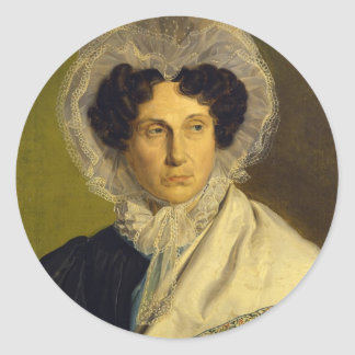 Portait of the Artist's Mother by Alfred Rethel Stickers