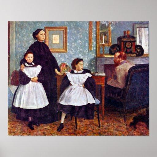 Portait of the Bellelli family by Edgar Degas Print