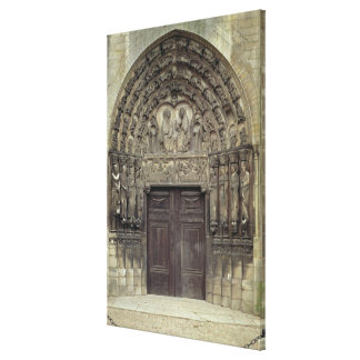 Portal and surrounding sculptures with biblical fi canvas print