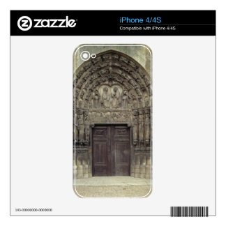 Portal and surrounding sculptures with biblical fi skins for iPhone 4