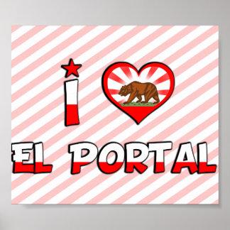 Portal del EL, CA Posters