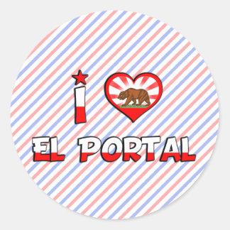 Portal del EL, CA Pegatinas Redondas