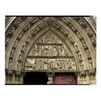 Portal del norte del transept, detalle del tímpano tarjetas postales