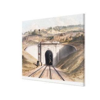 Portal del túnel de la caja de Brunel cerca del ba Impresión En Lona