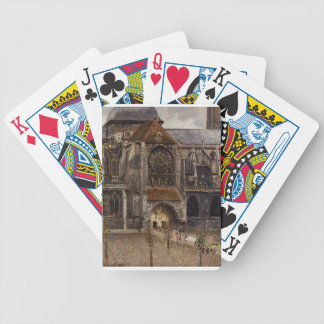 Portal from the Abbey Church of Saint Laurent Bicycle Playing Cards