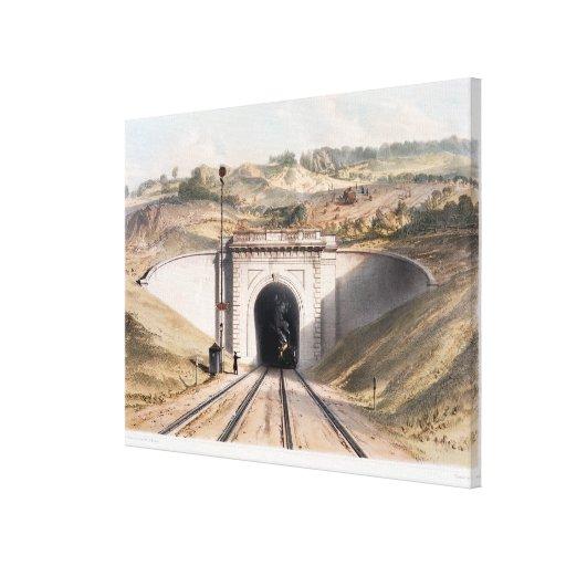 Portal of Brunel's box tunnel near Bath Canvas Print