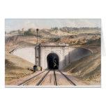 Portal of Brunel's box tunnel near Bath Card