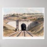 Portal of Brunel's box tunnel near Bath Poster