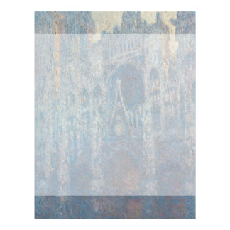 Portal of Rouen Cathedral Morning Light by Monet Flyer