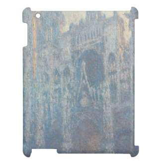 Portal of Rouen Cathedral Morning Light by Monet iPad Cover