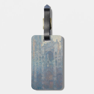 Portal of Rouen Cathedral Morning Light by Monet Tag For Bags