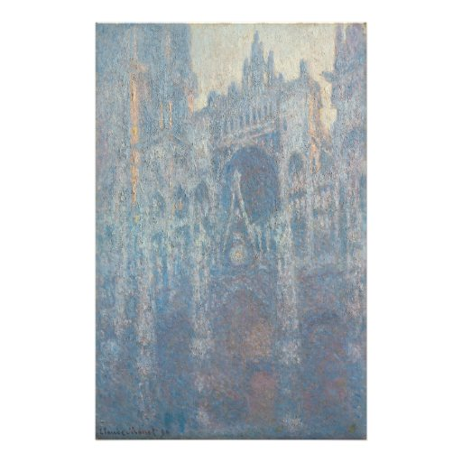 Portal of Rouen Cathedral Morning Light by Monet Photo Art