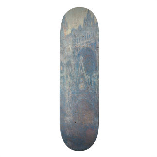 Portal of Rouen Cathedral Morning Light by Monet Skateboard Deck