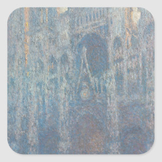 Portal of Rouen Cathedral Morning Light by Monet Stickers