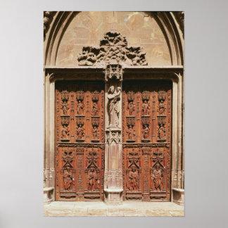 Portal principal de la catedral del Santo-Sauveur Póster