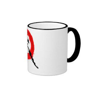 Portal s Ringer Mug 2 white with black accents