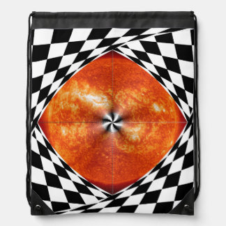 Portal to the Sun by Kenneth Yoncich Drawstring Bag