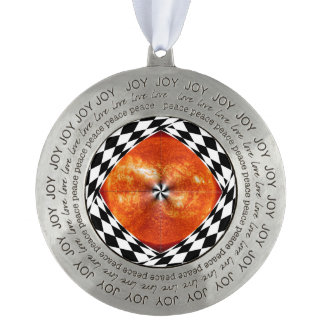 Portal to the Sun Round Pewter Ornament