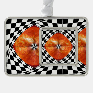 Portal to the Sun Silver Plated Framed Ornament
